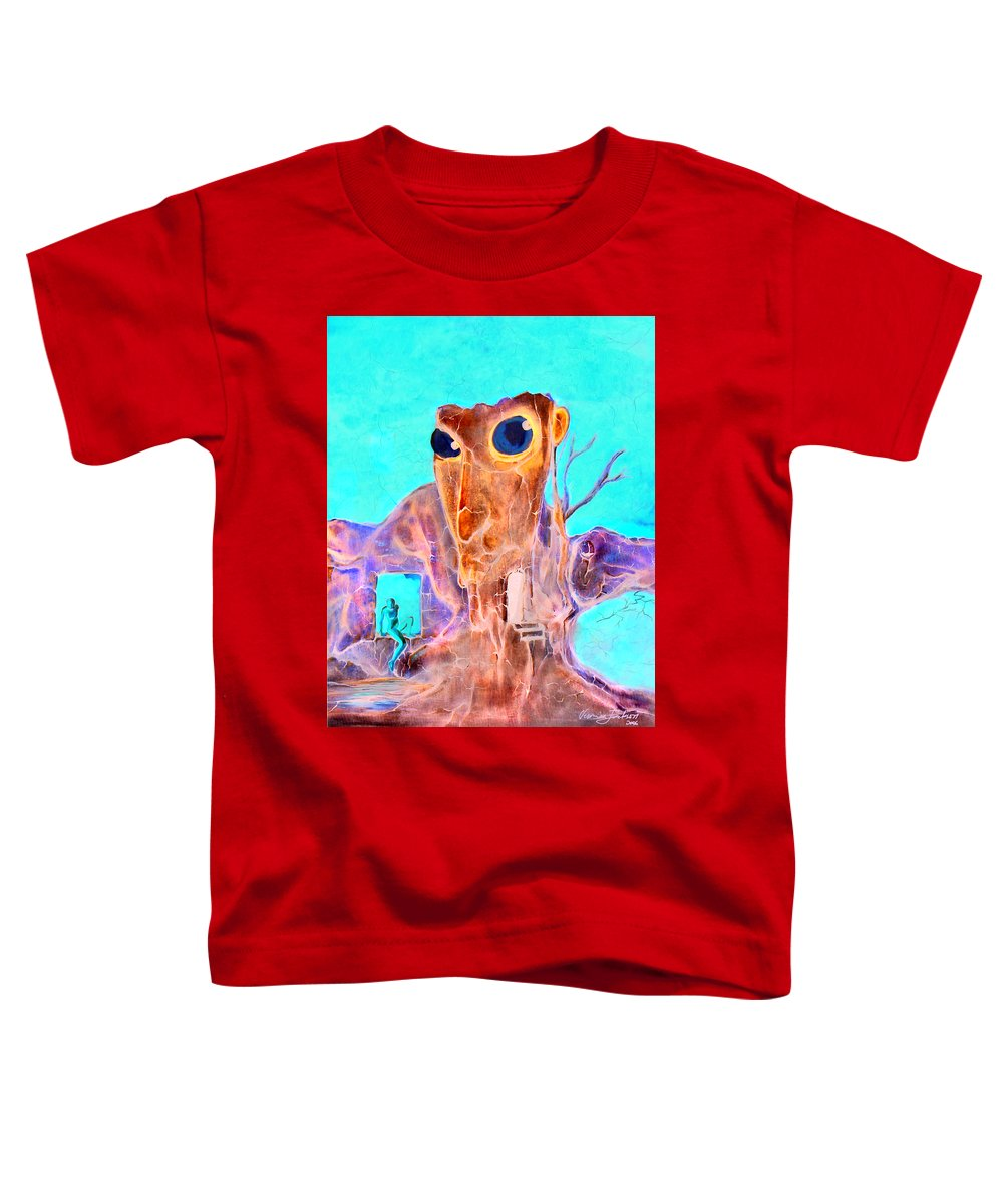 Surreal Color Eyes Structure Toddler T-Shirt featuring the painting Another Few Seconds In My Head by Veronica Jackson