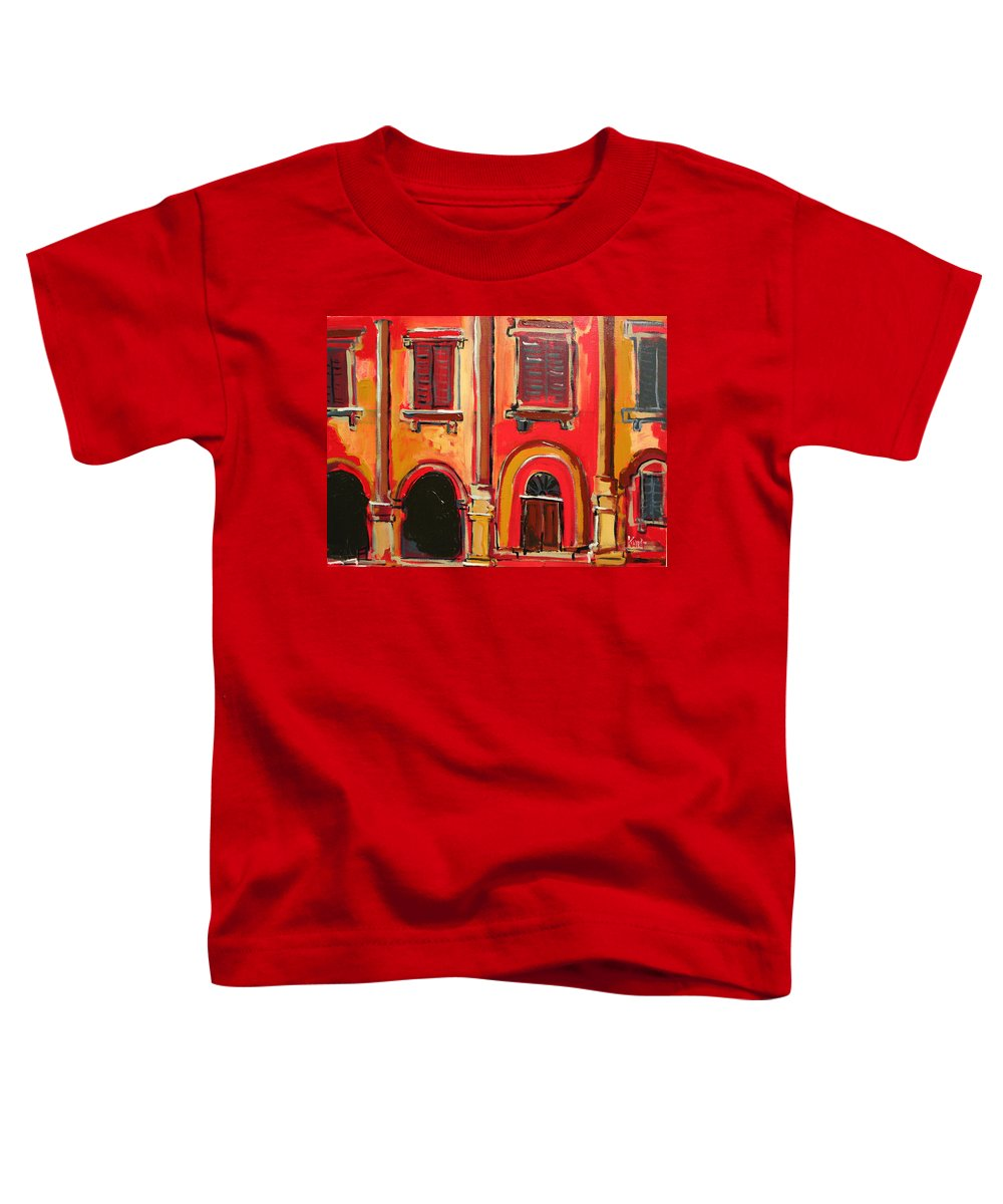 Tuscany Toddler T-Shirt featuring the painting Arco Di Firenze by Kurt Hausmann