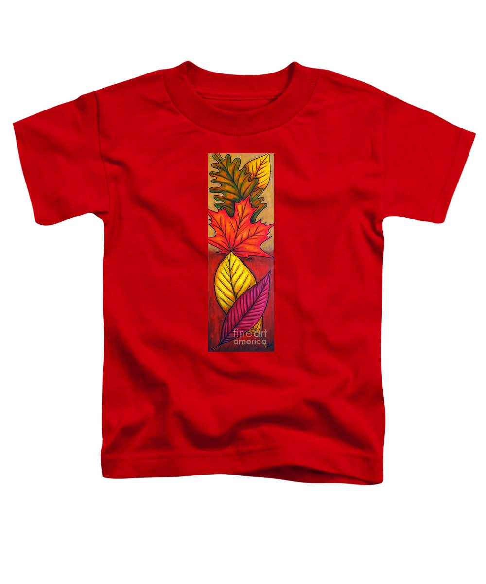 Autumn Toddler T-Shirt featuring the painting Autumn Glow by Lisa Lorenz