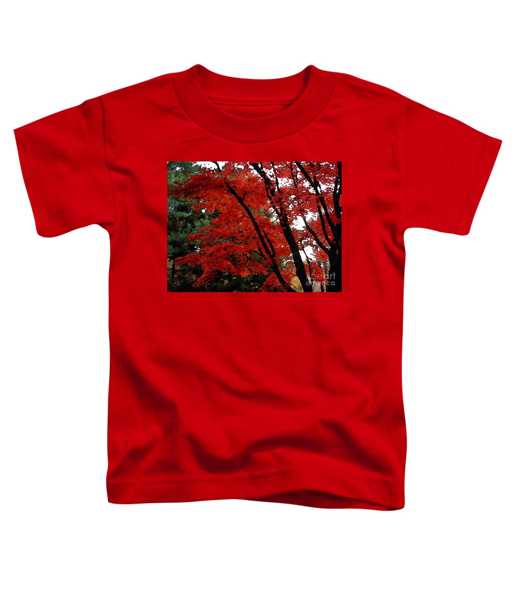 Autumn Toddler T-Shirt featuring the photograph Autumn In New England by Melissa A Benson