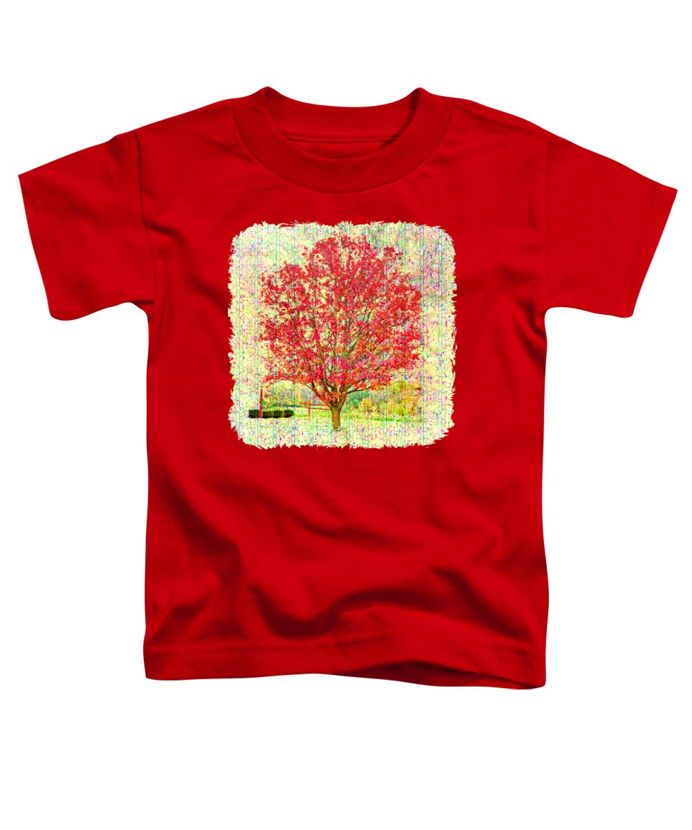 Tree Toddler T-Shirt featuring the photograph Autumn Musings 2 by John M Bailey