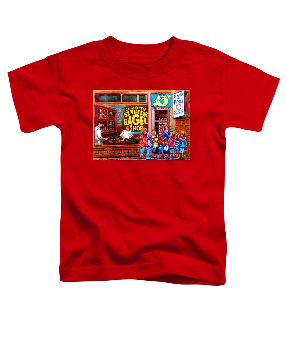 Children Toddler T-Shirt featuring the painting Bet You Cant Eat Just One by Carole Spandau