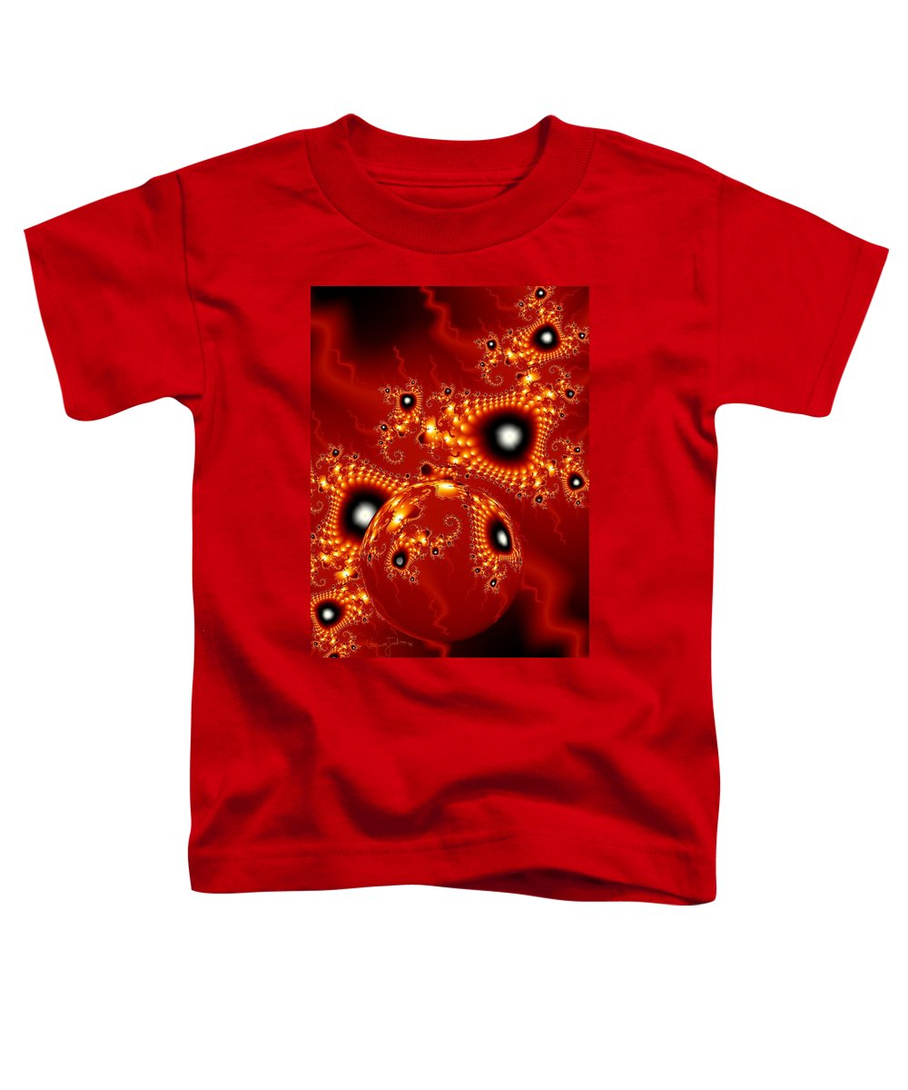 Fractal Passion Love Red Sphere Toddler T-Shirt featuring the digital art Blood In Love by Veronica Jackson