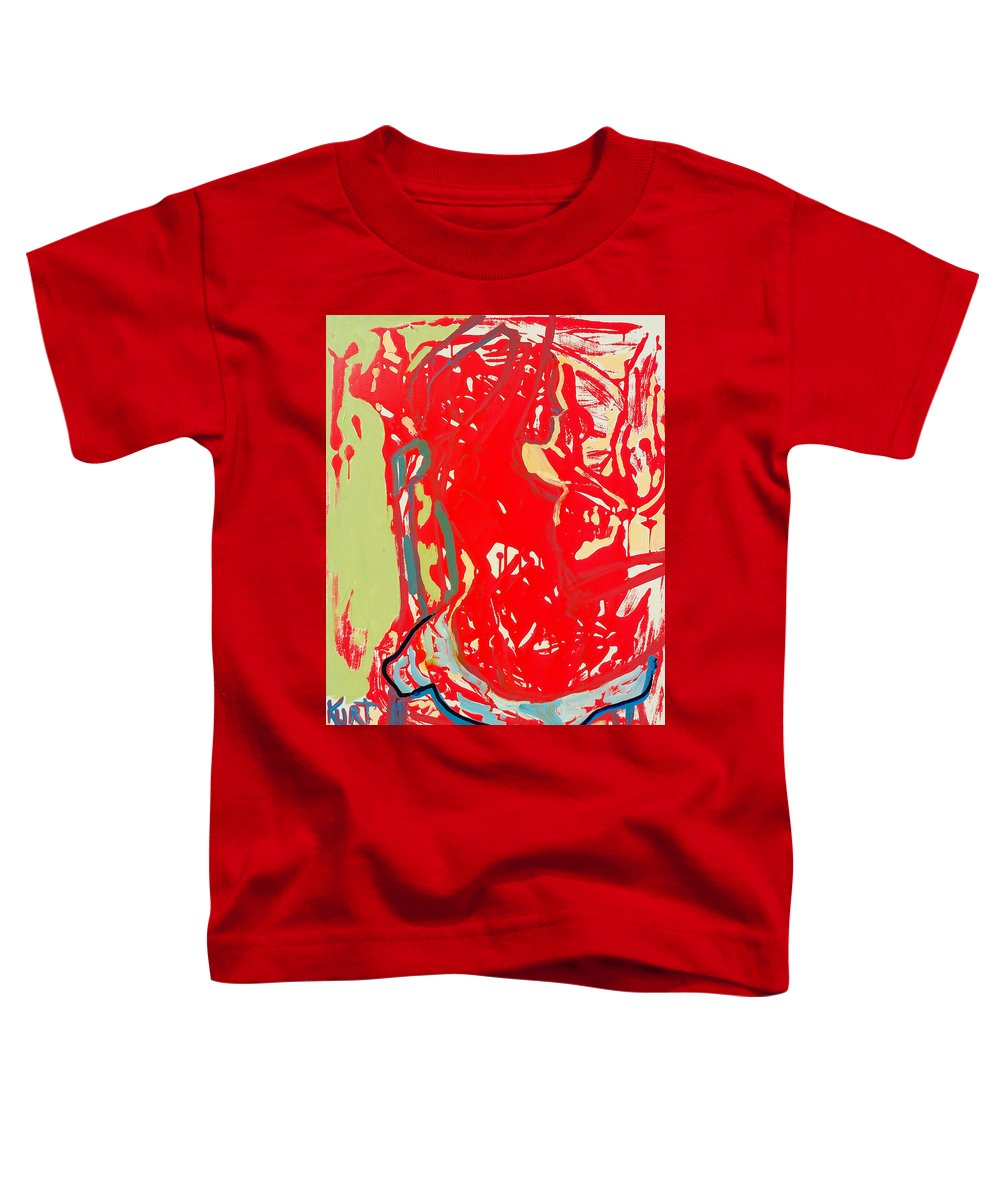 Nude Toddler T-Shirt featuring the painting Blue Chair by Kurt Hausmann