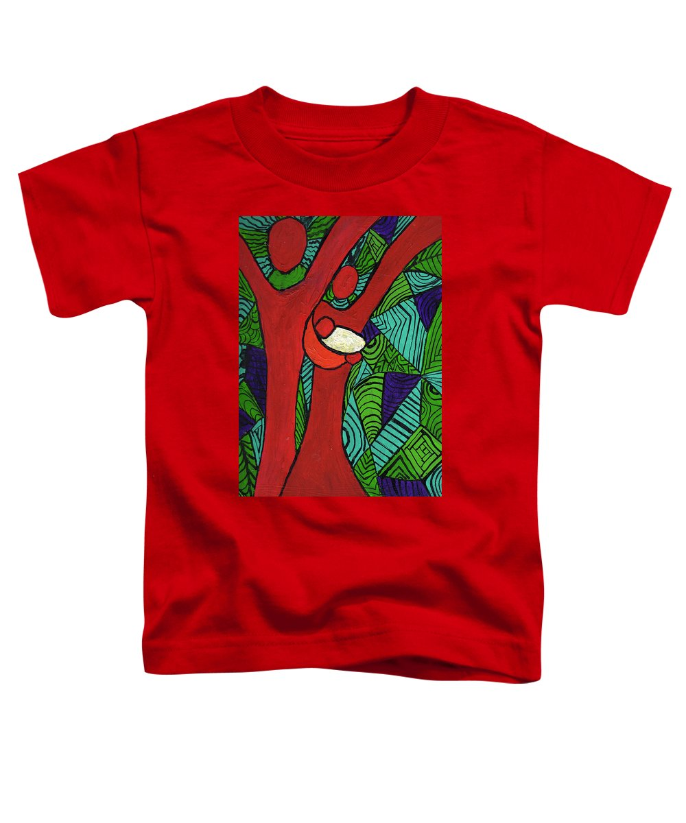 Family Toddler T-Shirt featuring the painting Bright New Day by Wayne Potrafka