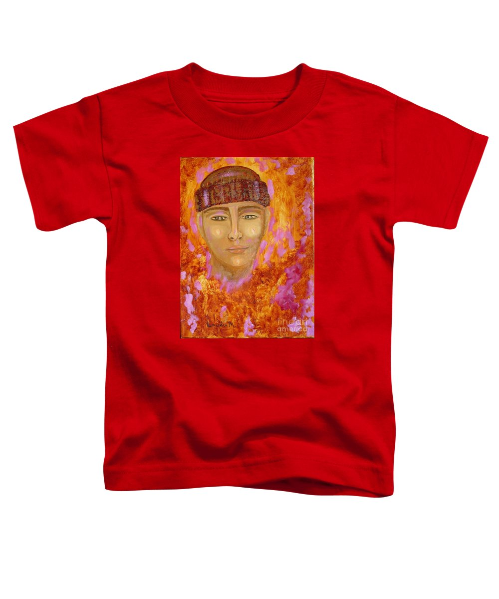 Portrait Toddler T-Shirt featuring the painting Choices by Laurie Morgan
