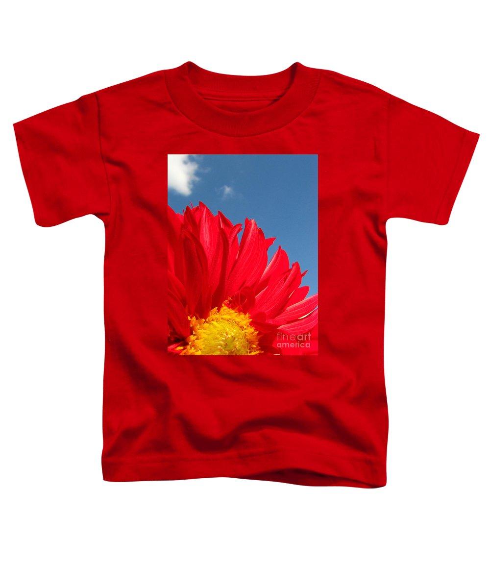 Dahlia Toddler T-Shirt featuring the photograph Dahlia by Amanda Barcon