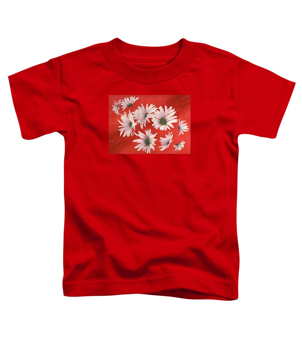 Flowers Toddler T-Shirt featuring the painting Daisy Chain by Ruth Kamenev