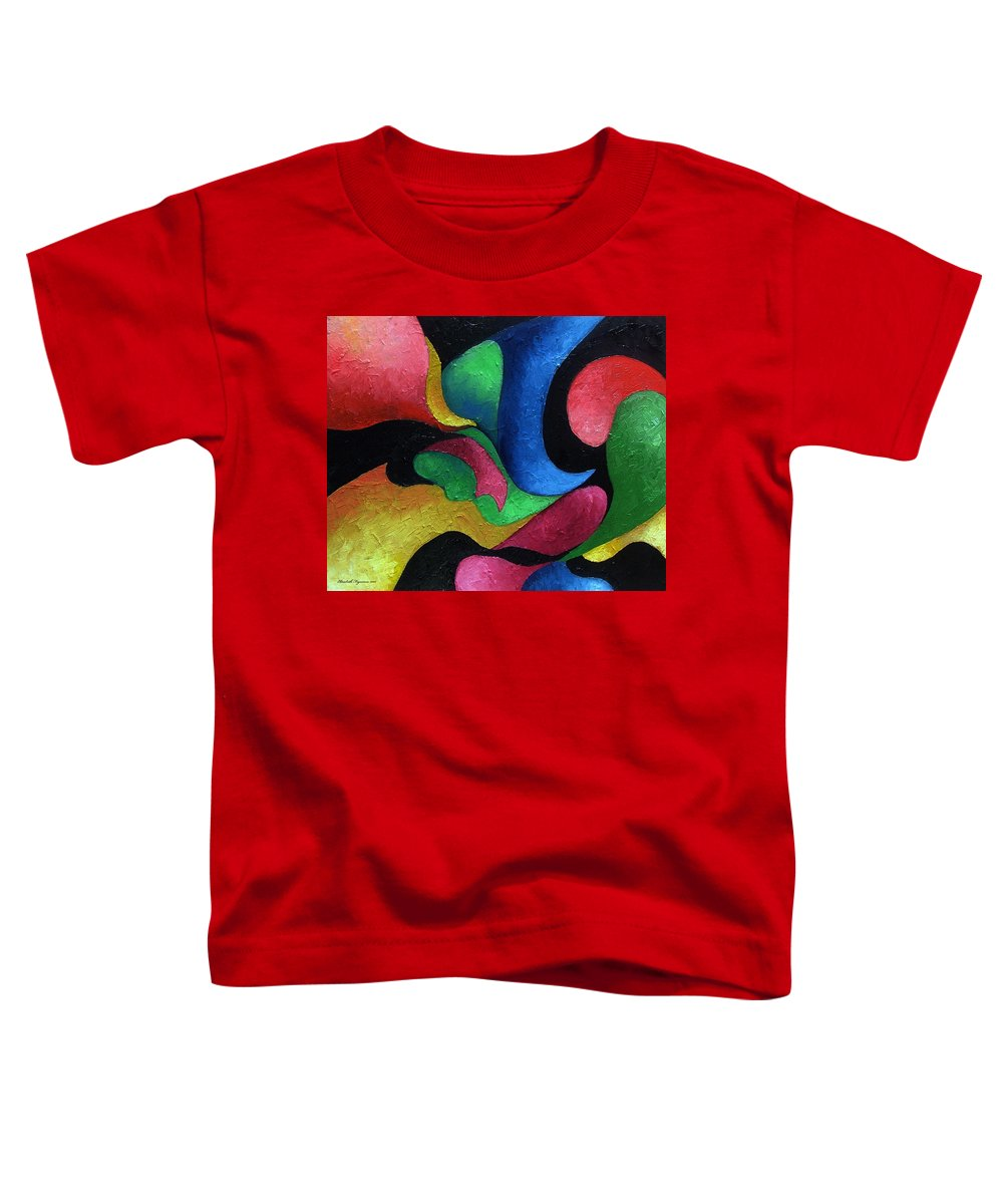 Abstract Toddler T-Shirt featuring the painting Dance With Me by Elizabeth Lisy Figueroa