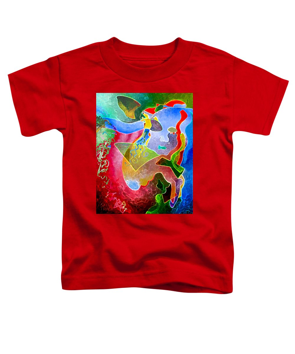 Coffee Toddler T-Shirt featuring the painting Daydreams by Sally Trace
