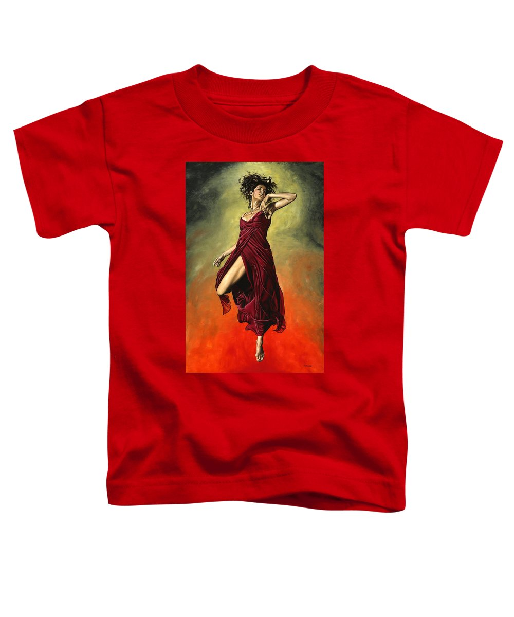 Dance Toddler T-Shirt featuring the painting Destiny's Dance by Richard Young
