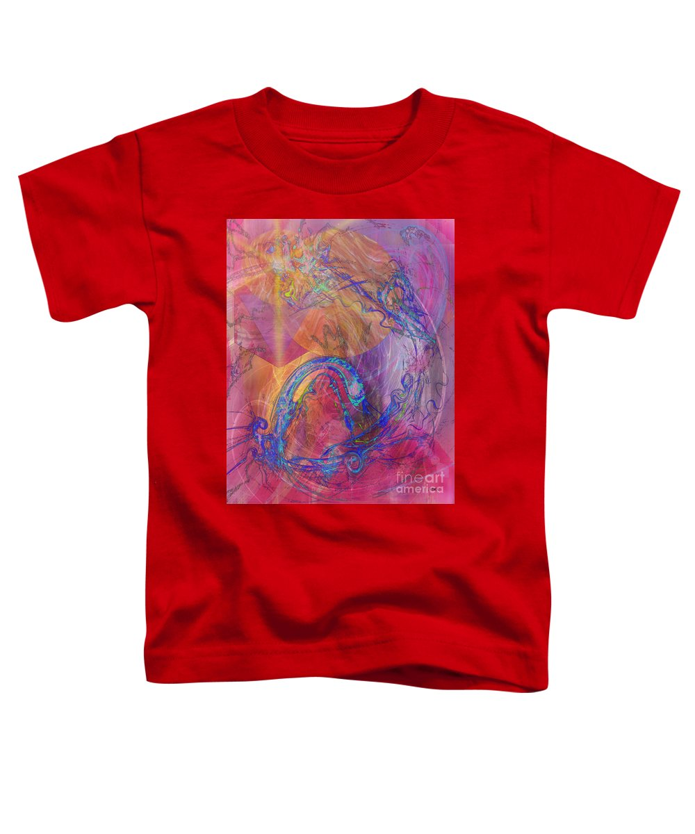 Dragon's Tale Toddler T-Shirt featuring the digital art Dragon's Tale by John Beck