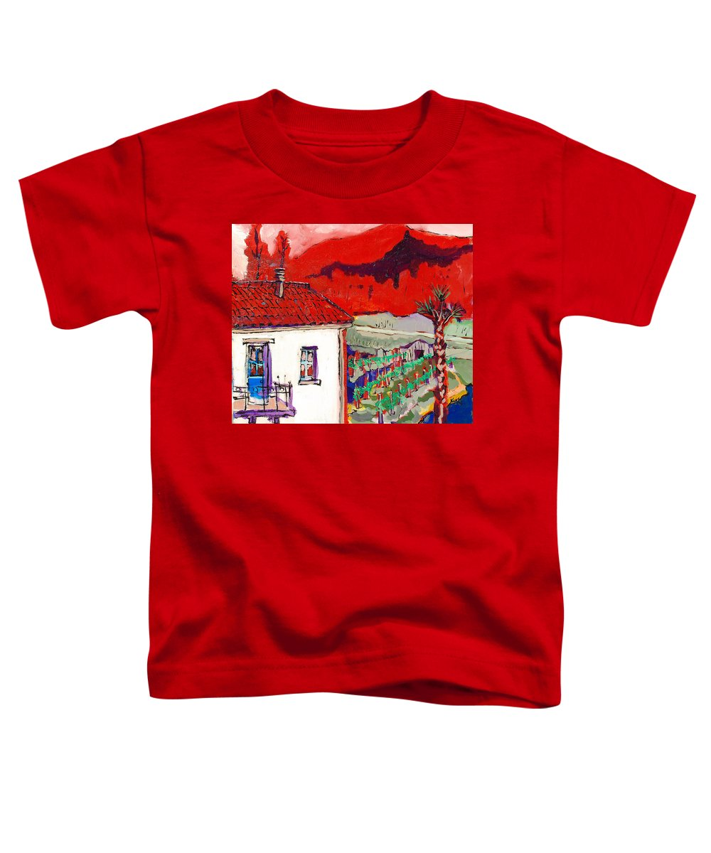 Toddler T-Shirt featuring the painting Enrico's View by Kurt Hausmann