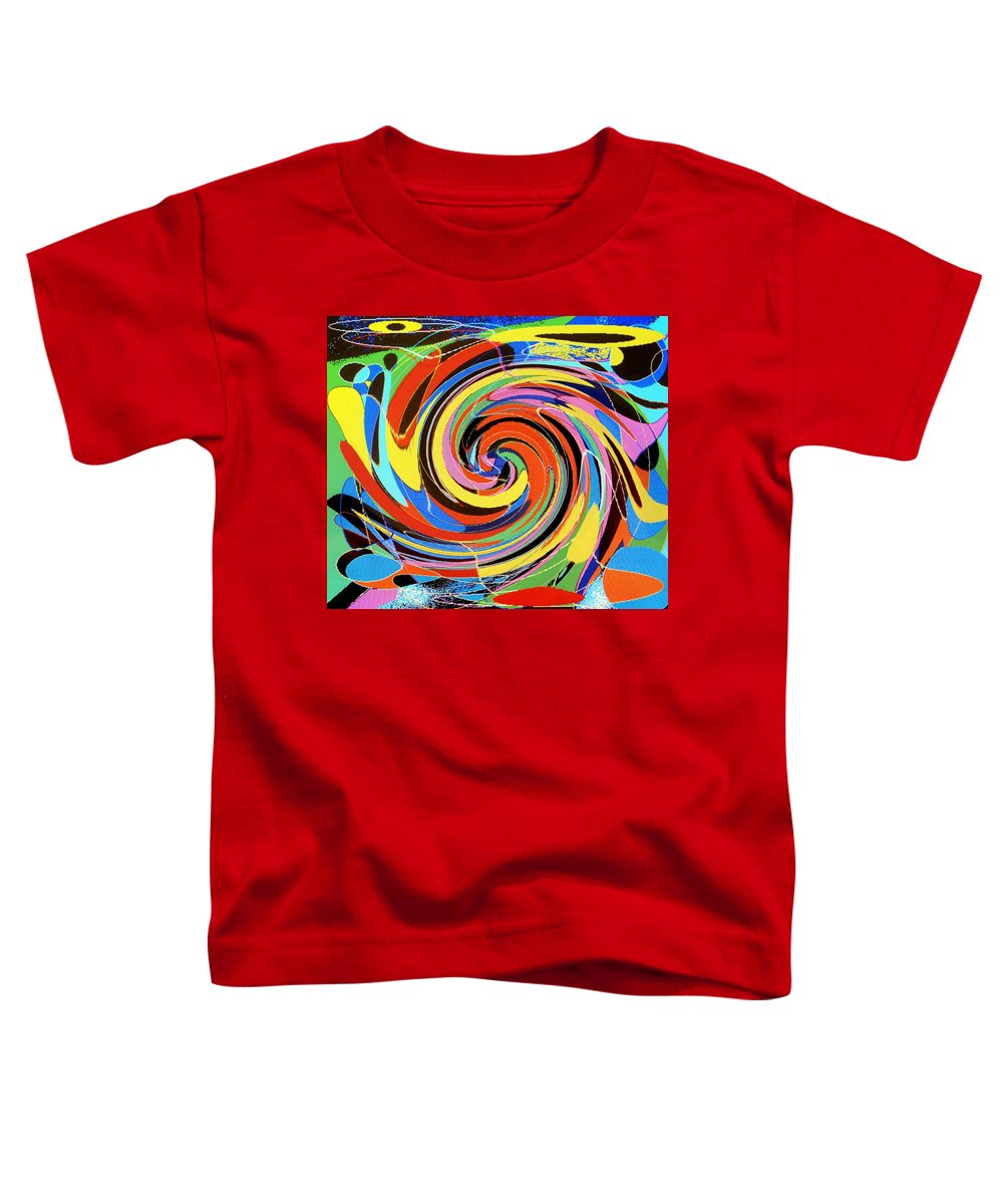 Toddler T-Shirt featuring the digital art Escaping The Vortex by Ian MacDonald