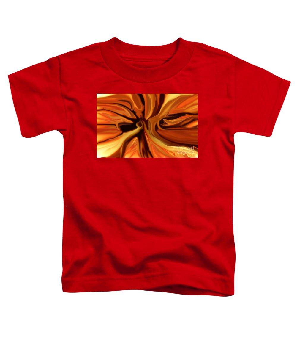 Abstract Toddler T-Shirt featuring the digital art Fantasy In Orange by David Lane