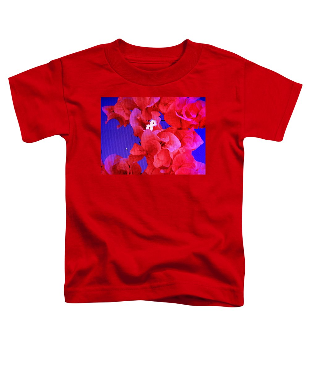 Red Toddler T-Shirt featuring the photograph Flower Fantasy by Ian MacDonald