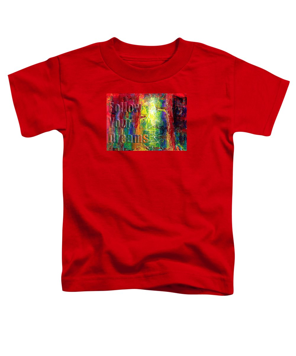 Greeting Cards Toddler T-Shirt featuring the painting Follow Your Dreams Embossed by Thomas Lupari