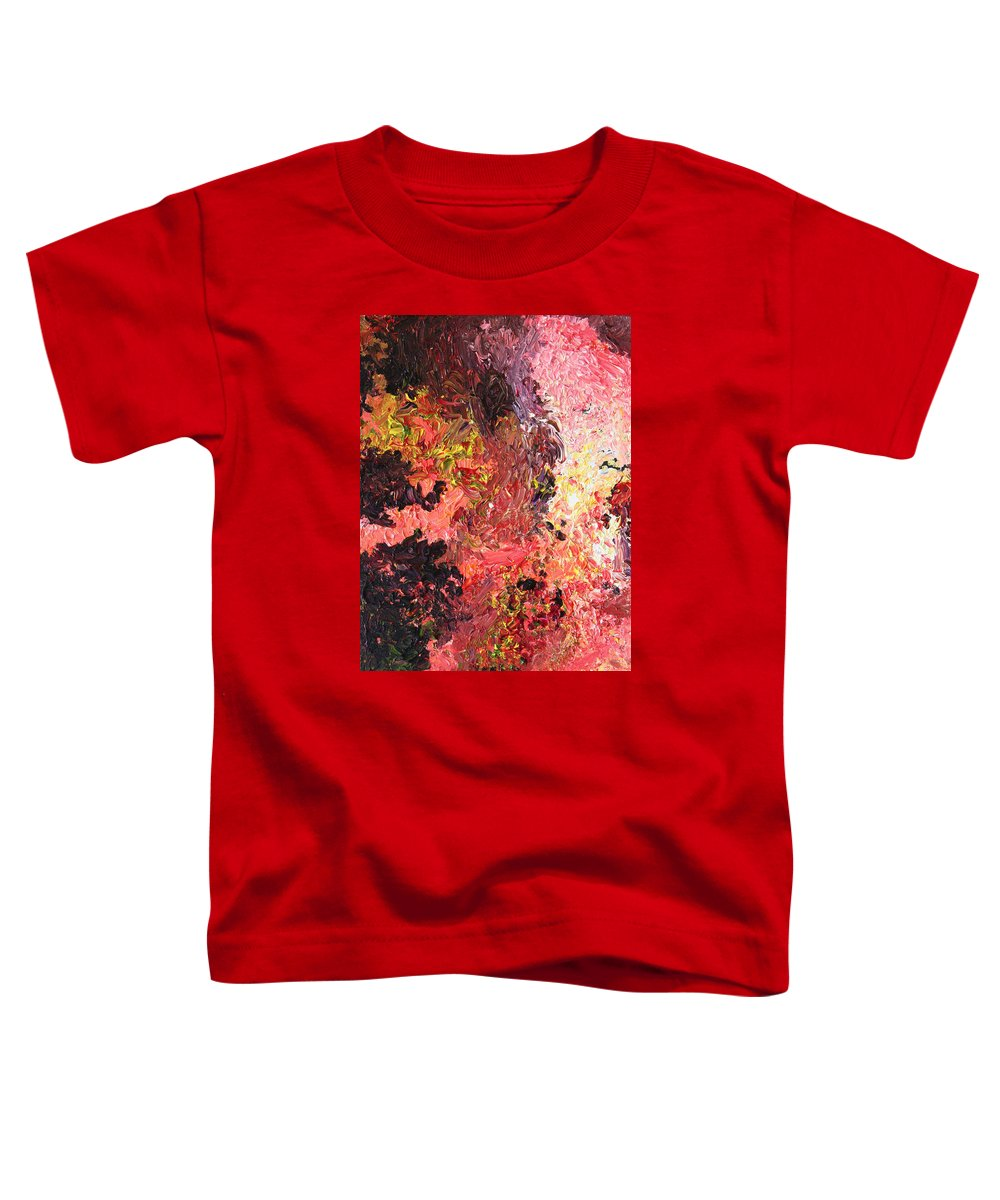 Fusionart Toddler T-Shirt featuring the painting Ganesh In The Garden by Ralph White