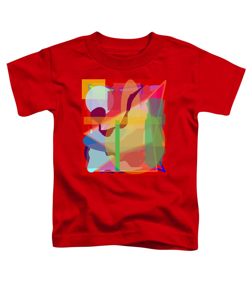 Abstract Toddler T-Shirt featuring the painting Geo Frenzy by Pharris Art