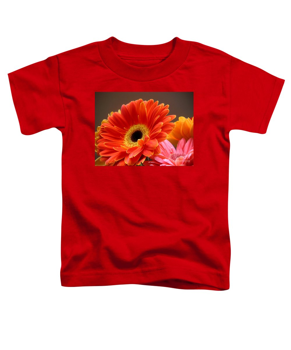 Nature Toddler T-Shirt featuring the photograph Gerbera Daisies - Luminous by Lucyna A M Green