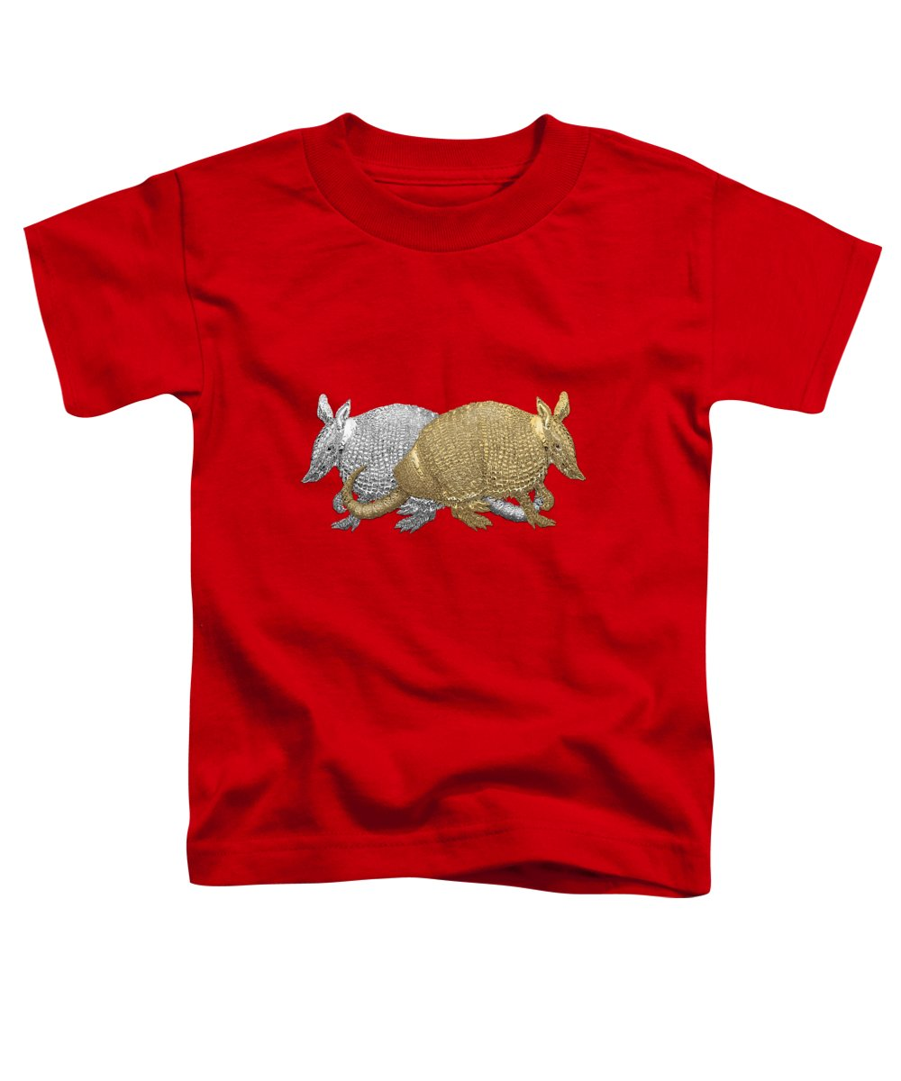 Silver And Gold Digital Art Toddler T-Shirts