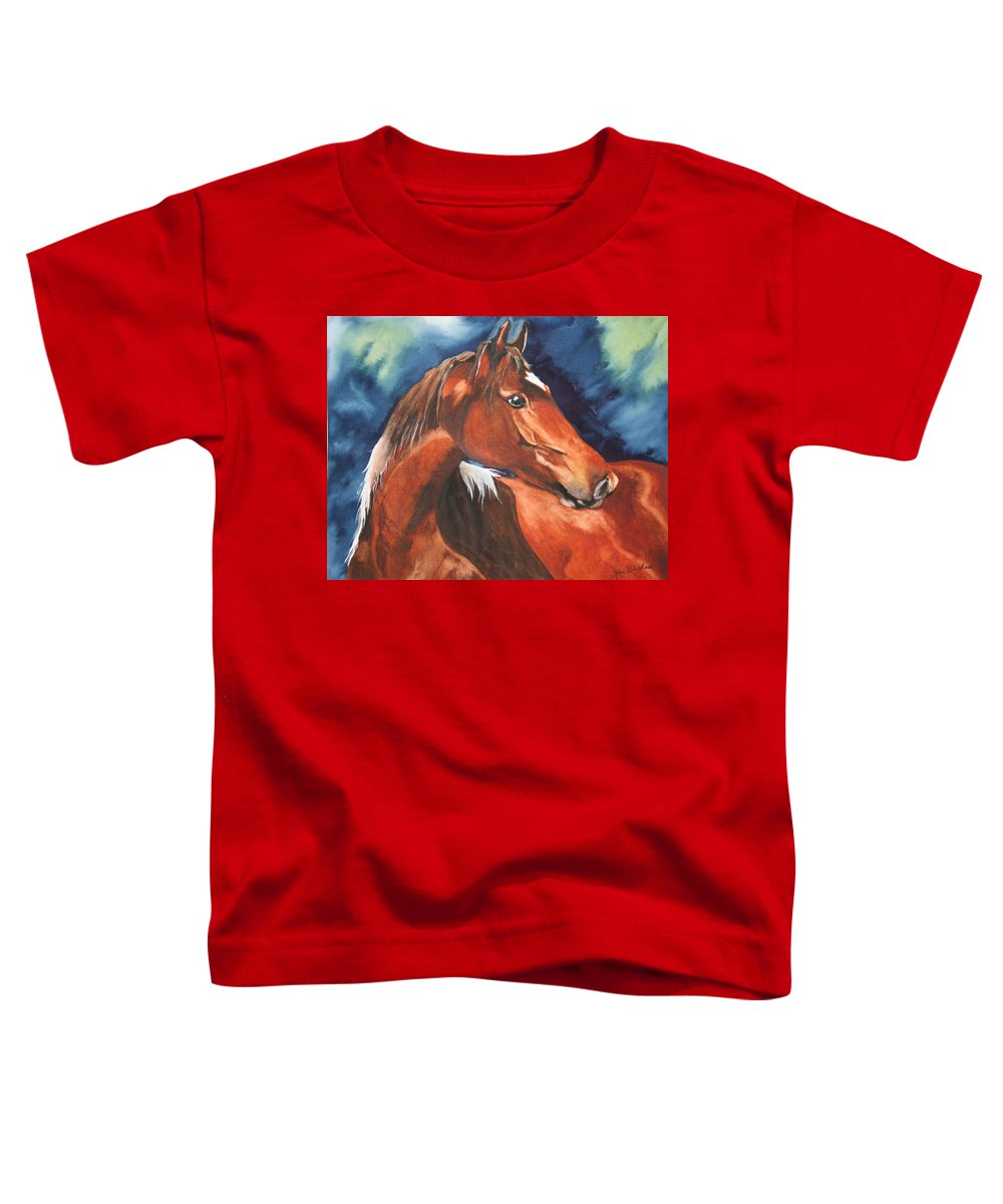 Horse Toddler T-Shirt featuring the painting Golden Boy by Jean Blackmer