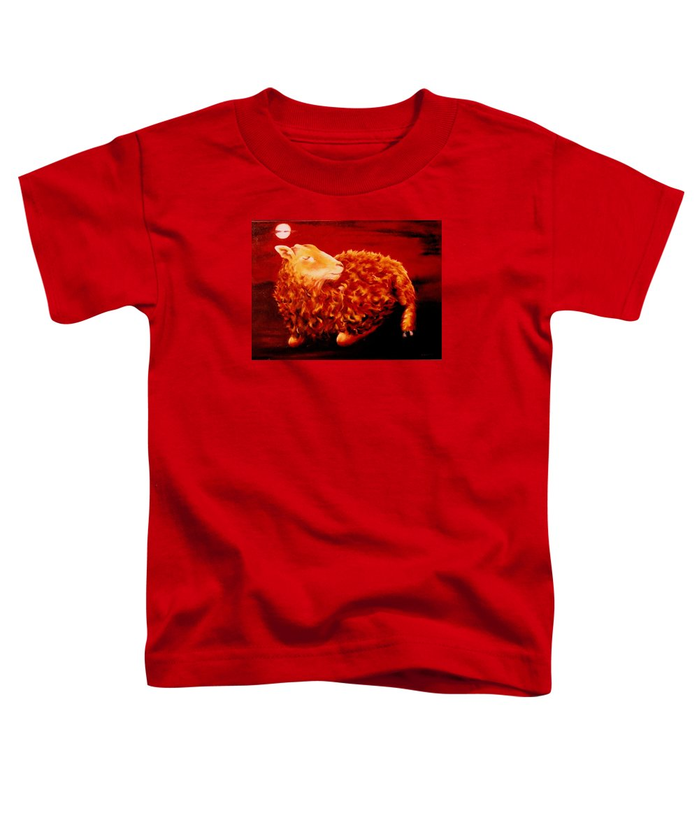 Sunset Toddler T-Shirt featuring the painting Golden Fleece by Mark Cawood