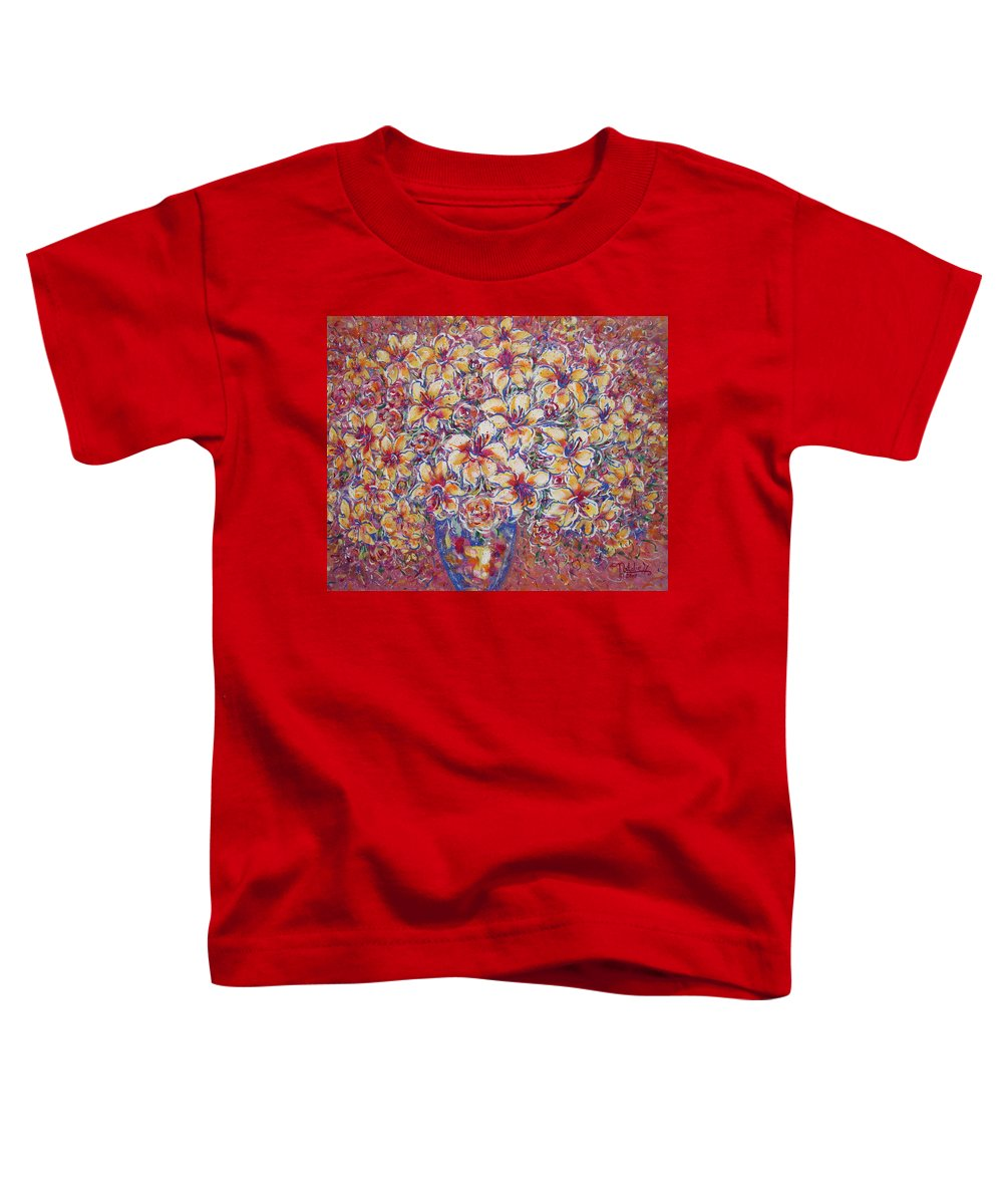 Lily Toddler T-Shirt featuring the painting Golden Splendor by Natalie Holland