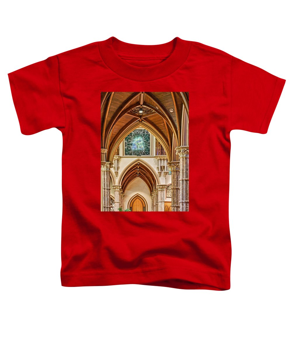 Chicago Toddler T-Shirt featuring the photograph Gothic Arches - Holy Name Cathedral - Chicago by Nikolyn McDonald