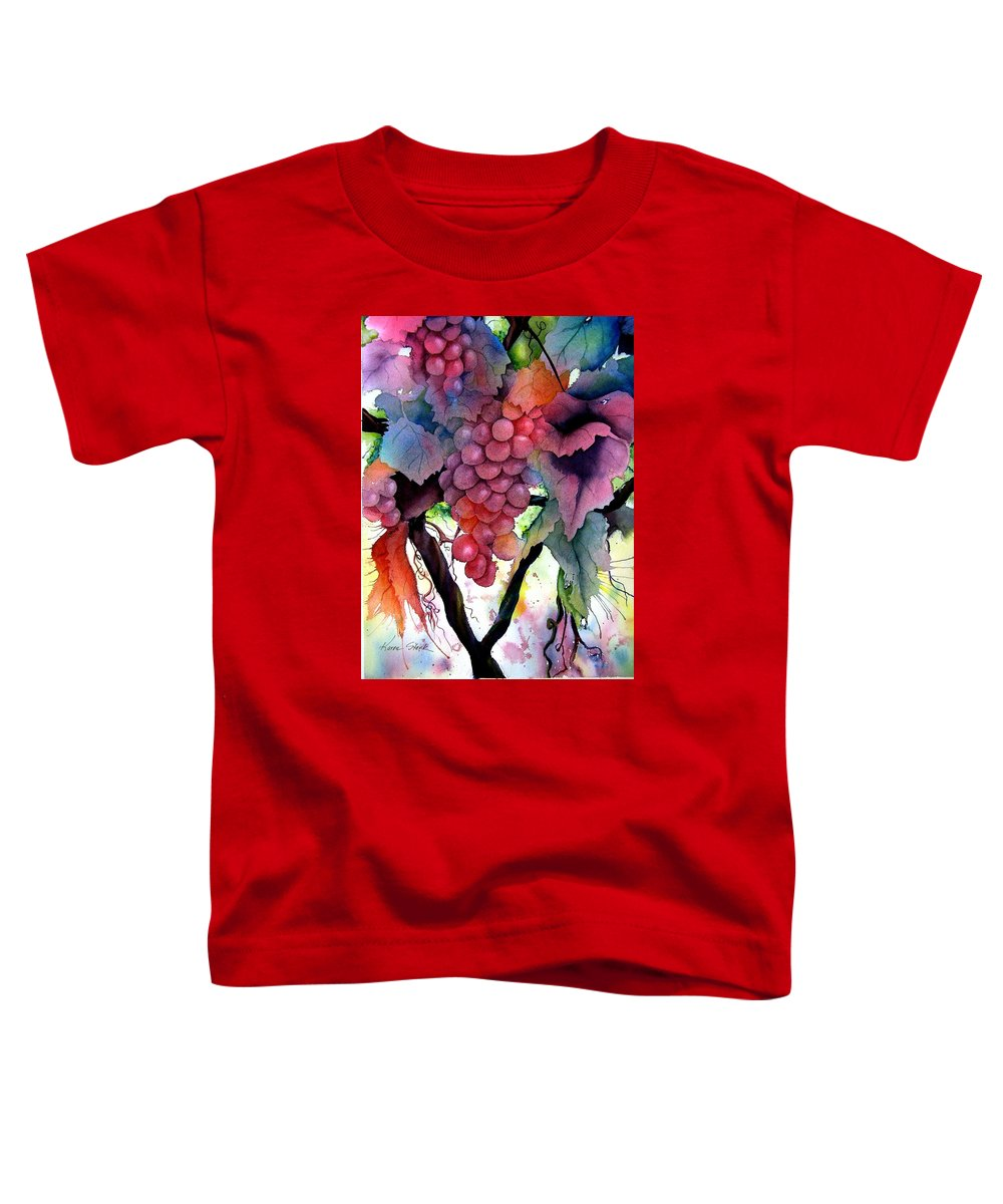 Grape Toddler T-Shirt featuring the painting Grapes IIi by Karen Stark