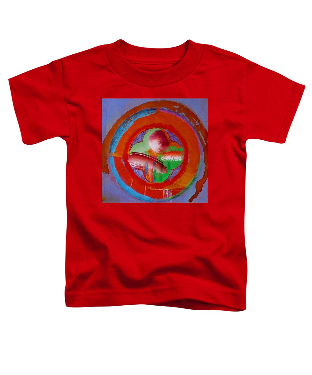 Love Toddler T-Shirt featuring the painting Green Planet by Charles Stuart
