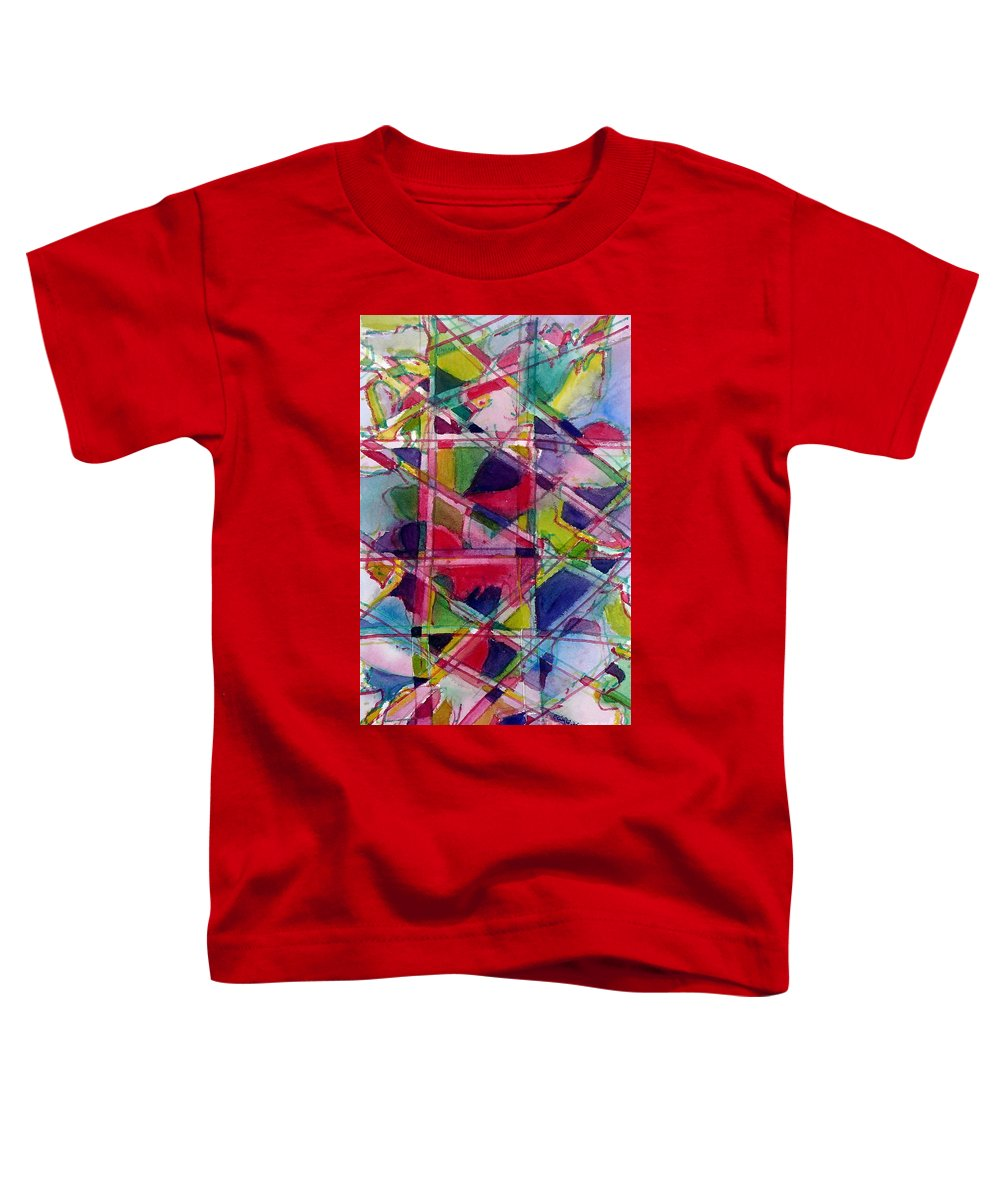 Abstract Toddler T-Shirt featuring the painting Holiday Rush by Jan Bennicoff