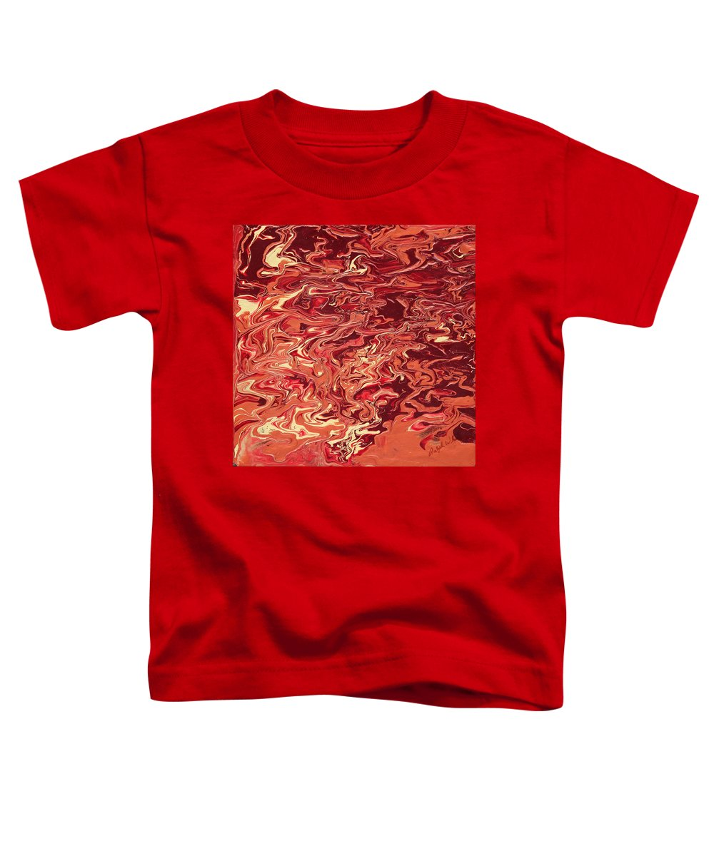 Fusionart Toddler T-Shirt featuring the painting Indulgence by Ralph White