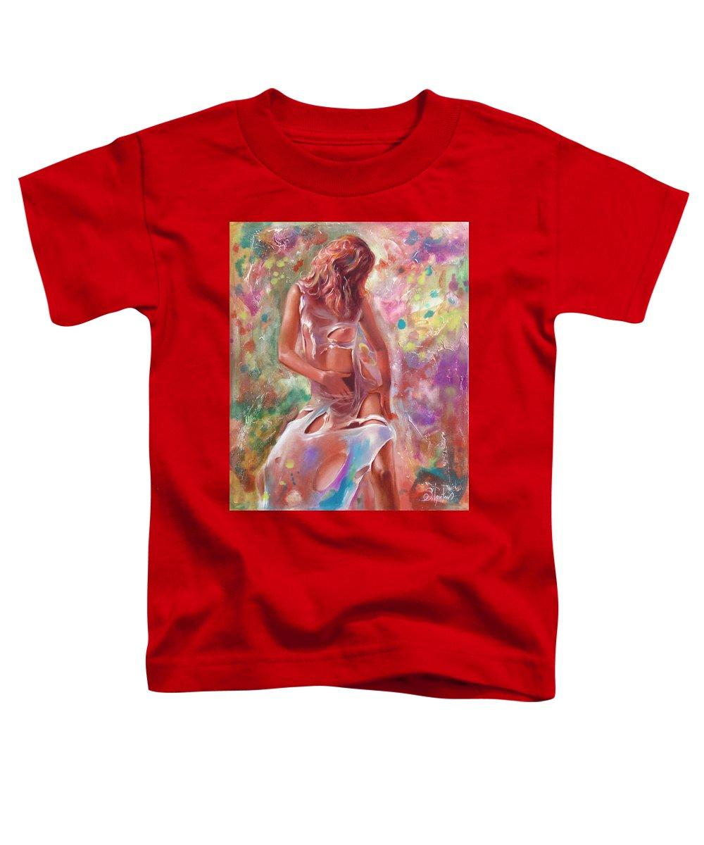 Ignatenko Toddler T-Shirt featuring the painting Jam by Sergey Ignatenko
