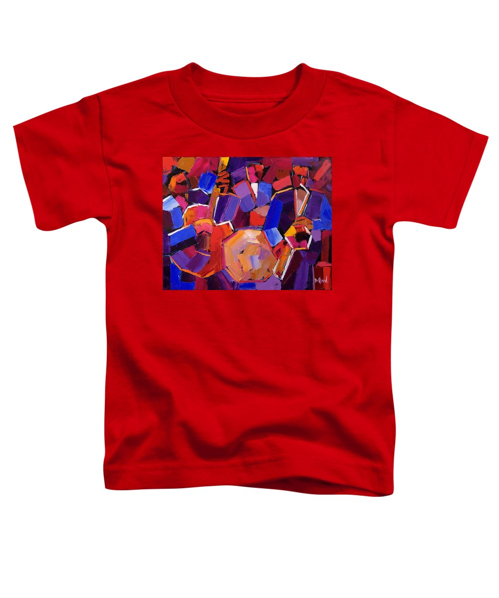 Jazz Toddler T-Shirt featuring the painting Jazz Angles Two by Debra Hurd