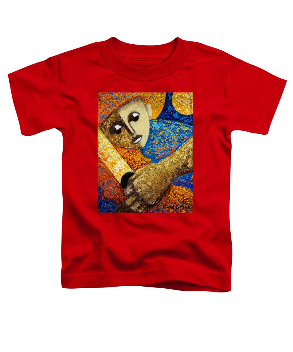 Color Toddler T-Shirt featuring the painting Jibaro Y Sol by Oscar Ortiz