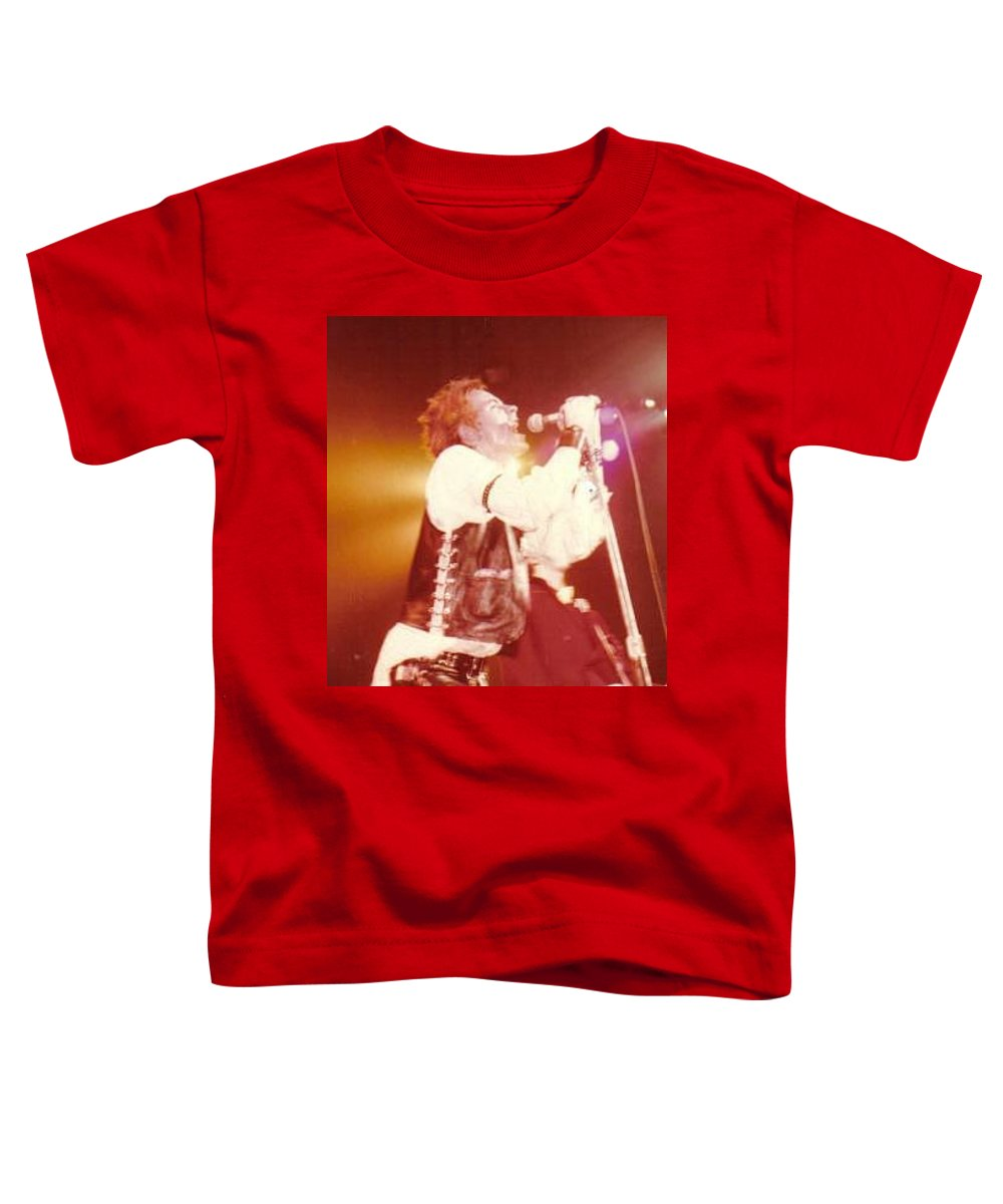 John Rotten-1978 Copyrighted Dawn Wirth Toddler T-Shirt featuring the photograph John Rotten-1978 In San Francisco  by Dawn Wirth