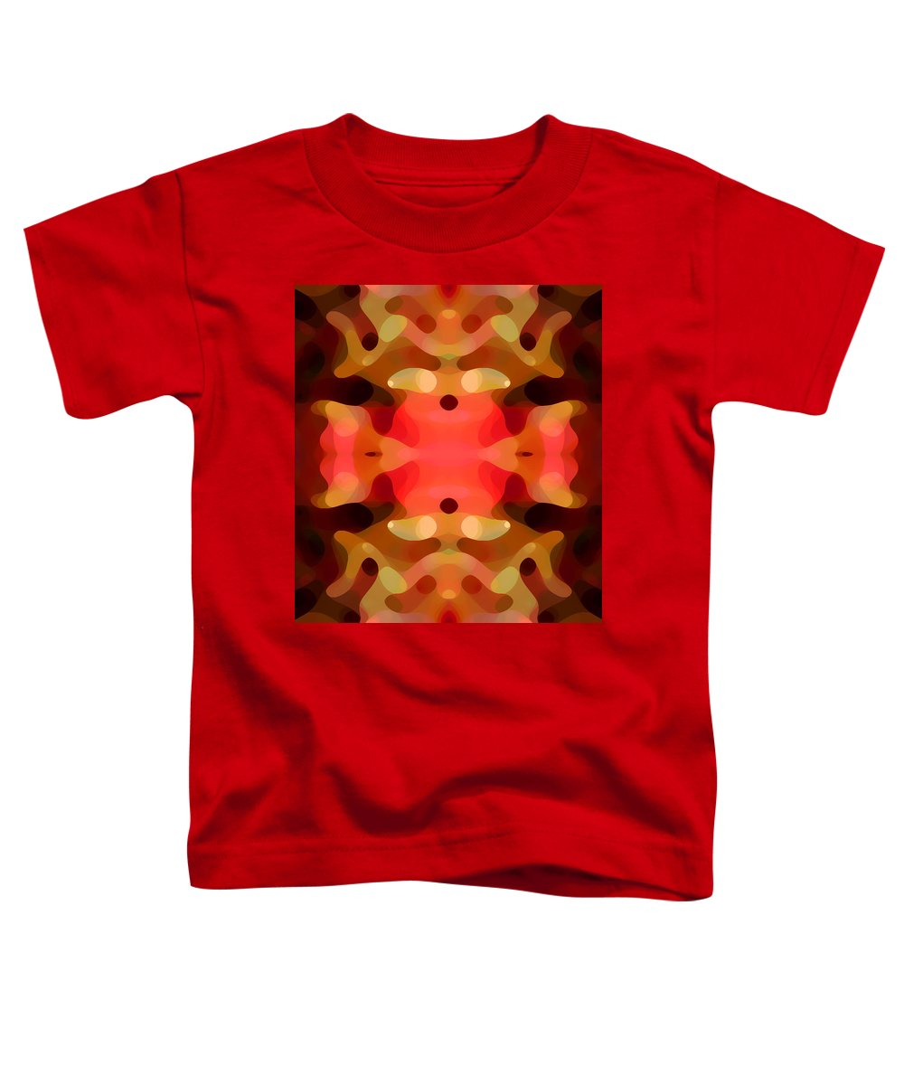 Abstract Painting Toddler T-Shirt featuring the digital art Las Tunas Abstract Pattern by Amy Vangsgard