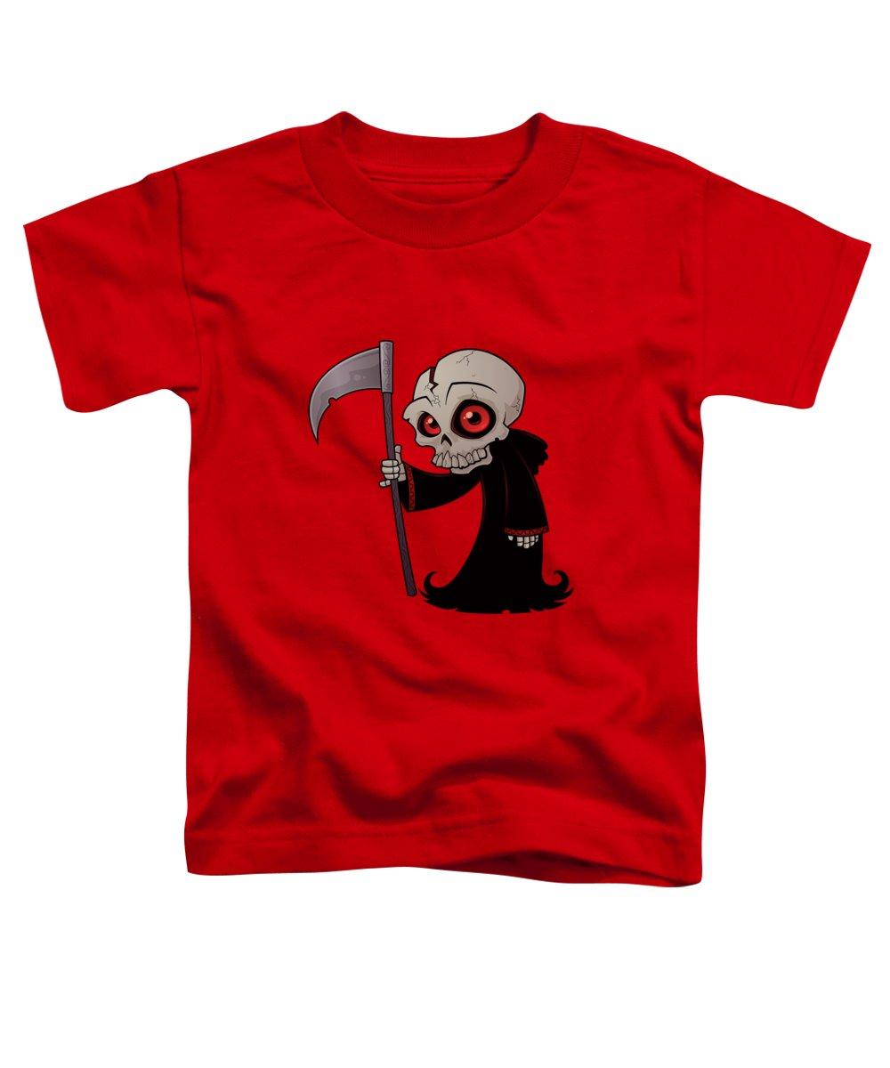 Grim Reaper Toddler T-Shirt featuring the digital art Little Reaper by John Schwegel