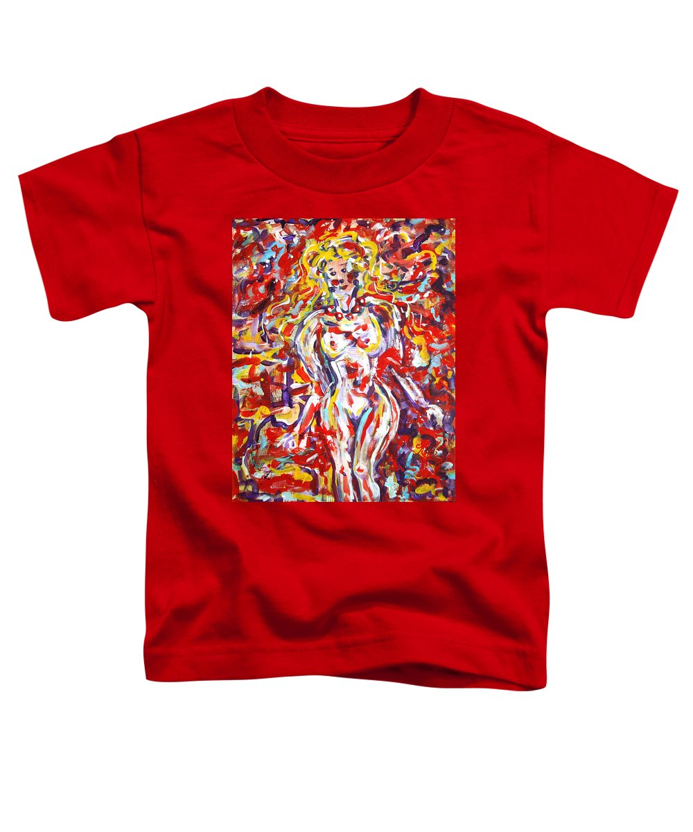 Expressionism Toddler T-Shirt featuring the painting Longing For You by Natalie Holland