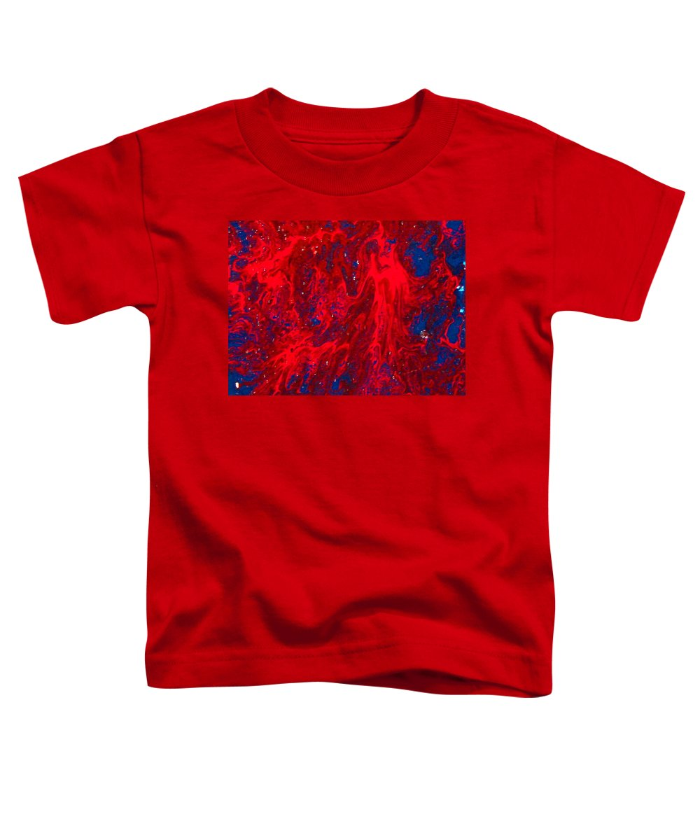 Abstract Art Toddler T-Shirt featuring the painting Lost Souls by Natalie Holland