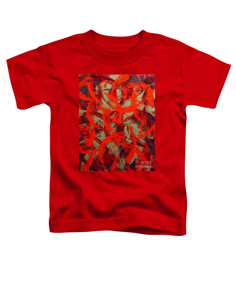 Abstract Toddler T-Shirt featuring the painting Love Trails by Dean Triolo