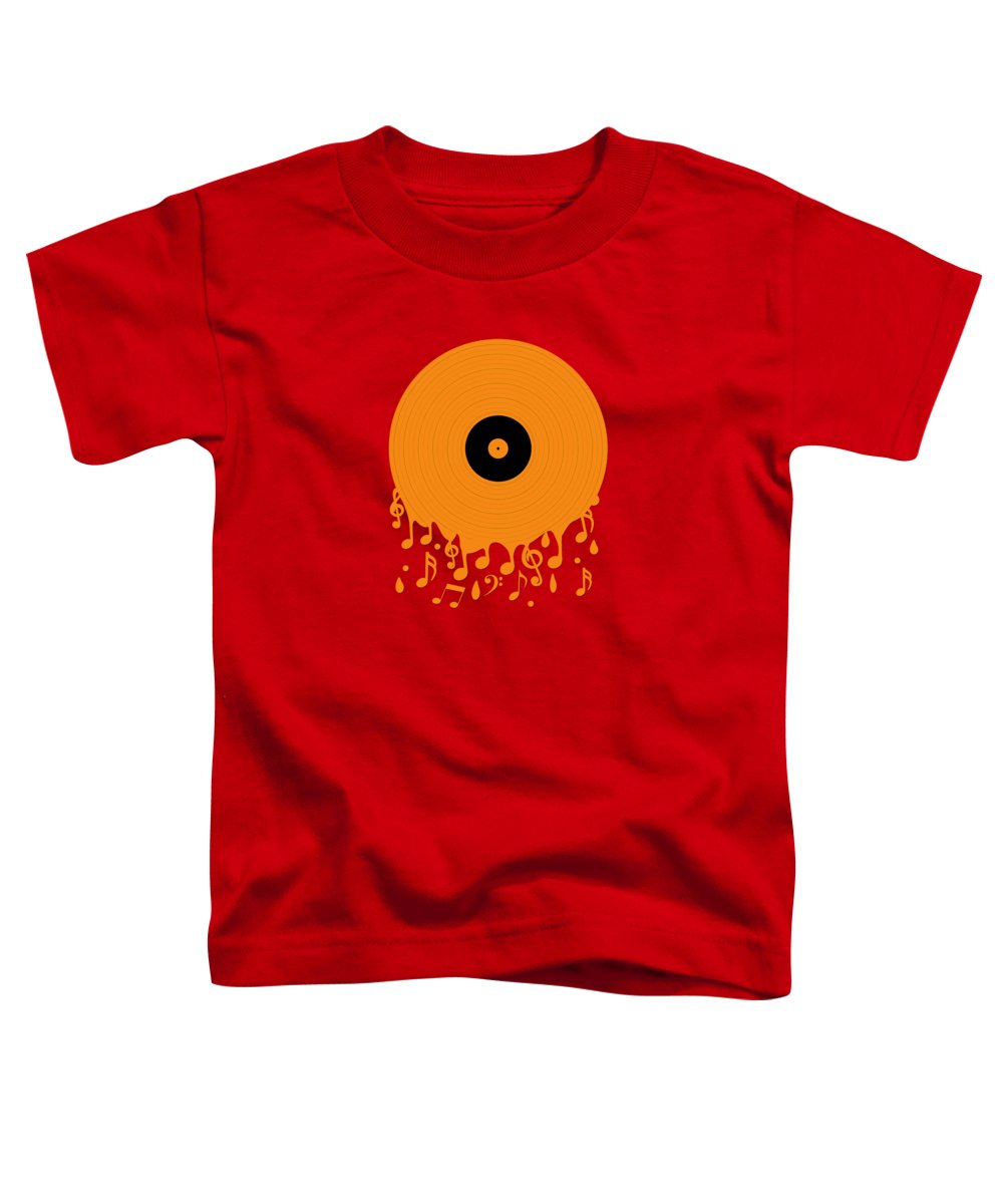 Record Toddler T-Shirt featuring the digital art Melting Music by Peter Awax
