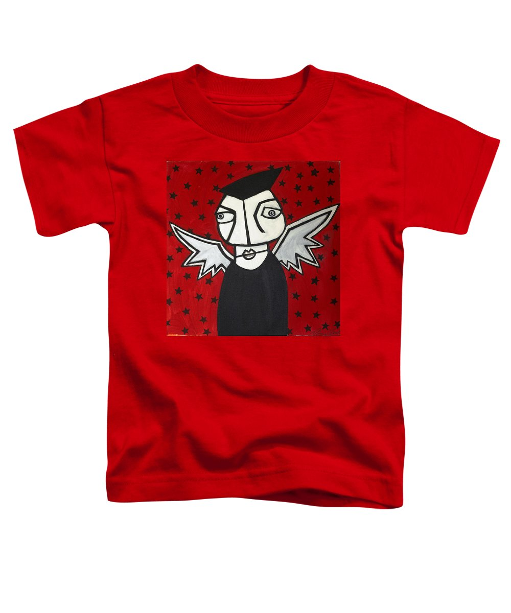 Clay Toddler T-Shirt featuring the painting Mr.creepy by Thomas Valentine