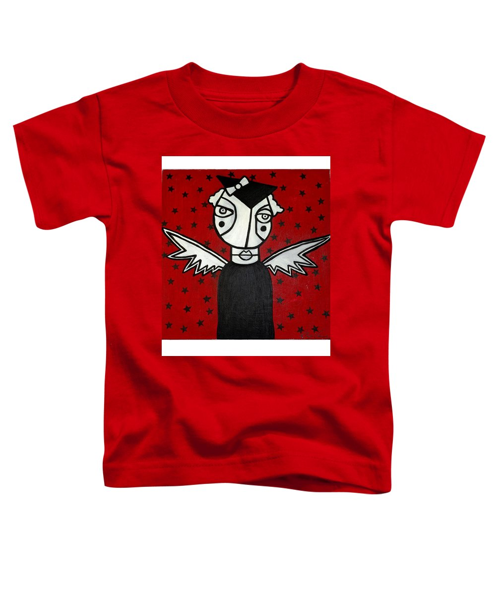 Potrait Toddler T-Shirt featuring the painting Mrs.creepy by Thomas Valentine