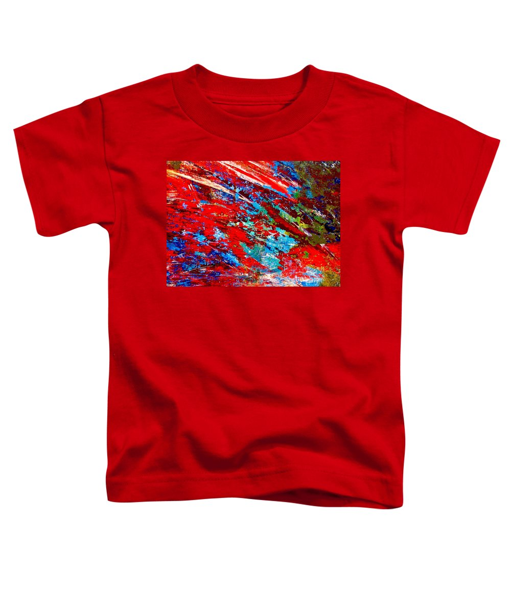 Abstract Toddler T-Shirt featuring the painting Nature Harmony by Natalie Holland
