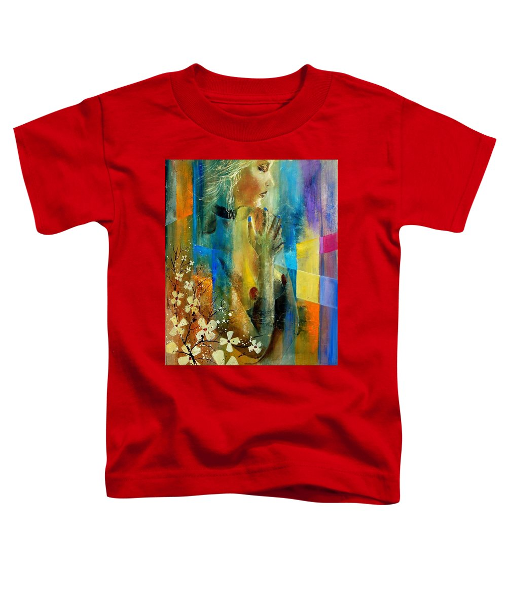 Nude Toddler T-Shirt featuring the painting Nude 5609082 by Pol Ledent
