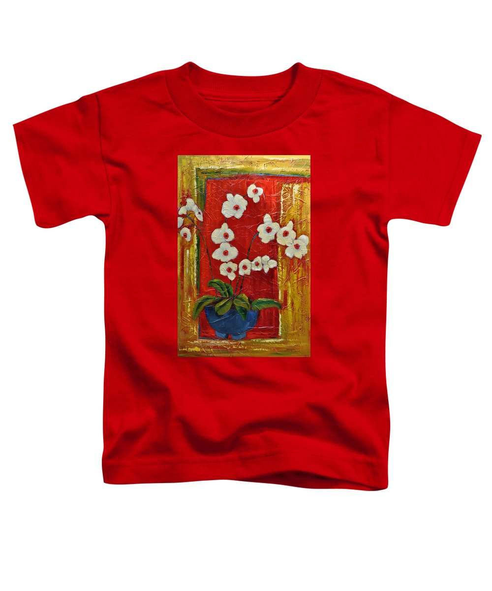 Orchids Toddler T-Shirt featuring the painting Ode To Orchids by Ginger Concepcion