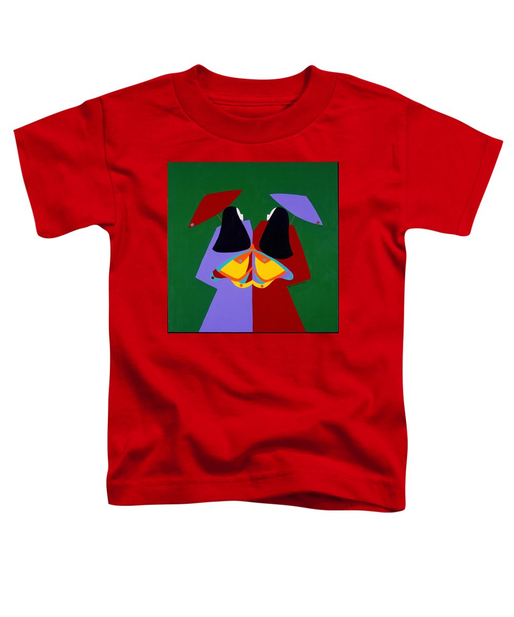 Asian Toddler T-Shirt featuring the painting Old Same by Synthia SAINT JAMES