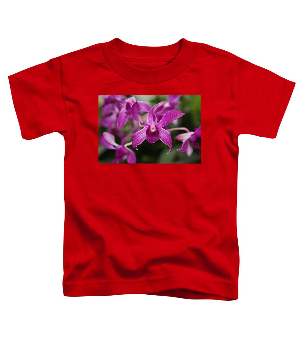 Orchid Toddler T-Shirt featuring the photograph Orchid by Heather Coen
